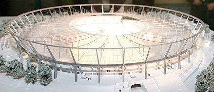 Stadion Śląski promuje się w… Zagłębiu_Makieta obiektu przez tydzień w Fashion House Outlet Centre w Sosnowcu